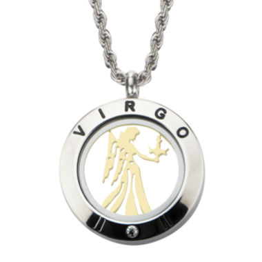 jcpenney.com | Virgo Zodiac Reversible Two-Tone Stainless Steel Locket Pendant Necklace
