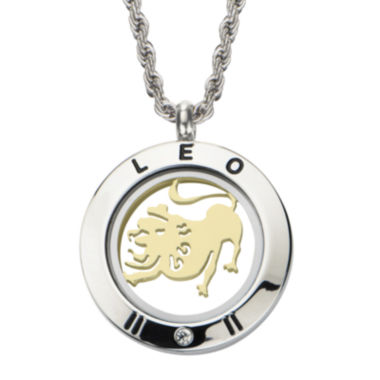 jcpenney.com | Leo Zodiac Reversible Two-Tone Stainless Steel Locket Pendant Necklace
