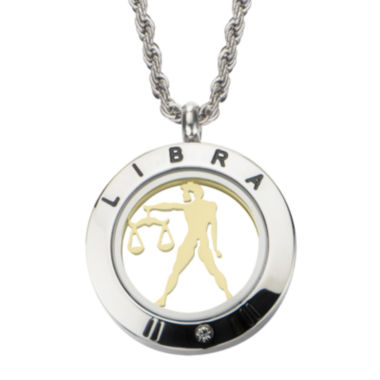 jcpenney.com | Libra Zodiac Reversible Two-Tone Stainless Steel Locket Pendant Necklace