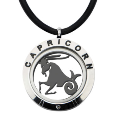 jcpenney.com | Capricorn Zodiac Reversible Stainless Steel Locket Pendant Necklace