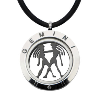 jcpenney.com | Mens Two-Tone Stainless Steel Gemini Zodiac Pendant Necklace