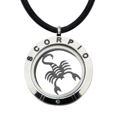jcpenney.com | Scorpio Zodiac Reversible Stainless Steel Locket Pendant Necklace