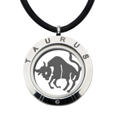 jcpenney.com | Taurus Zodiac Reversible Stainless Steel Locket Pendant Necklace