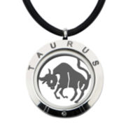 Taurus Zodiac Reversible Stainless Steel Locket Pendant Necklace