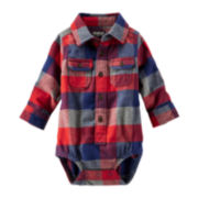 OshKosh B'gosh® Flannel Bodysuit - Baby Boys 3m-24m