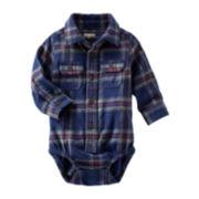 OshKosh B'gosh® Flannel Bodysuit - Baby Boys 3m-24m