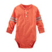 OshKosh B'gosh® Varsity Henley Bodysuit - Baby Boys 3m-24m