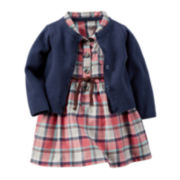Carter's® 2-pc. Dress and Cardigan Set - Baby Girls newborn-24m