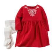 Carter's® Holiday Dress and Tights - Baby Girls newborn-24m