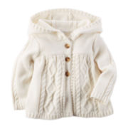 Carter's® Cable-Knit Peplum Sweater - Baby Girls newborn-24m