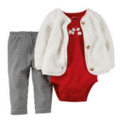 Carter's® Cardigan, Bodysuit & Leggings - Baby Girls newborn-24m