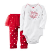 Carter's® Christmas Bodysuit and Tutu Pant Set - Baby Girls newborn-24m