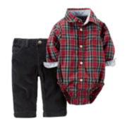 Carter's® Plaid Bodysuit and Pants - Baby Boys newborn-24m