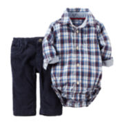 Carter's® Plaid Bodysuit and Jeans - Baby Boys newborn-24m