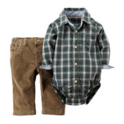 Carter's® Plaid Bodysuit & Corduroy Pants - Baby Boys newborn-24m