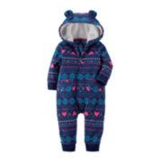 Carter's® Fair Isle Hooded Bodysuit - Baby Girls newborn-24m