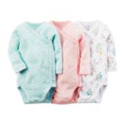 Carter's®3-pk. Side-Snap Bodysuits - Baby Girls preemie-9m