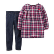 Carter's® Plaid Tunic and Jeggings - Baby Girls newborn-24m