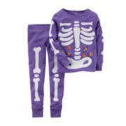 Carter's® Glow-in-the-Dark Skeleton Pajamas - Baby Girls newborn-24m