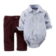 Carter's® Striped Bodysuit & Corduroy Pants - Baby Boys newborn-24m