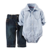 Carter's® Button-Front Bodysuit & Jeans - Baby Boys newborn-24m