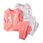 Carter's® 4-pk. Poodle Pajama Set - Baby Girls 6m-24m