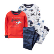 Carter's® 4-pc. Airplane Pajamas - Baby Boys 6m-24m