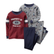 Carter's® 4-pc. Football Pajama Set - Baby Boys 6m-24m