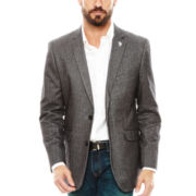 U.S. Polo Assn.® Charcoal Herringbone Elbow-Patch Sport Coat - Classic Fit