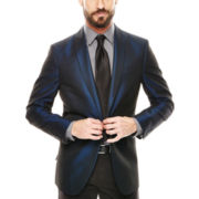 JF J. Ferrar® Shawl Collar Shimmer Jacket - Slim Fit
