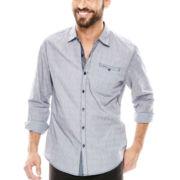 Michael Brandon® 2-Tone Dobby Woven Shirt