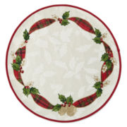 Bardwil Royal Holiday Set of 4 Round Placemats