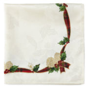 Bardwil Set of 4 Royal Holiday Napkins