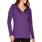Liz Claiborne® Long-Sleeve Weekend Hoodie