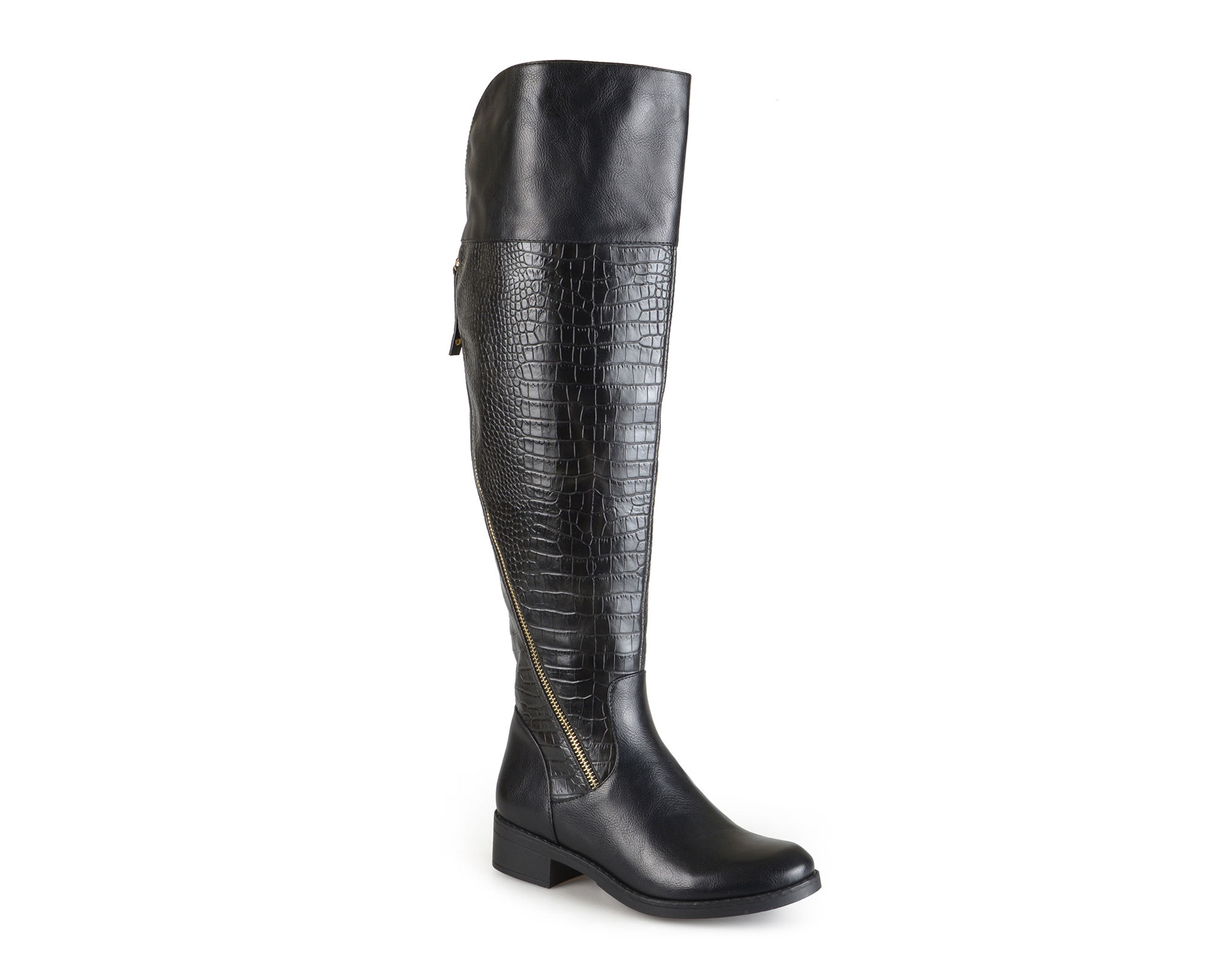 Journee Collection Wide Calf Womens Plica Boots