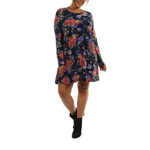 24/7 Comfort Apparel Stunning Shift Dress-Plus