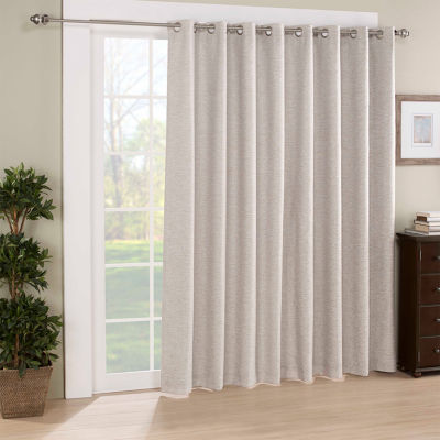 Eclipse Newport Jacquard Blackout Grommet Top Single Patio Door Curtain Jcpenney