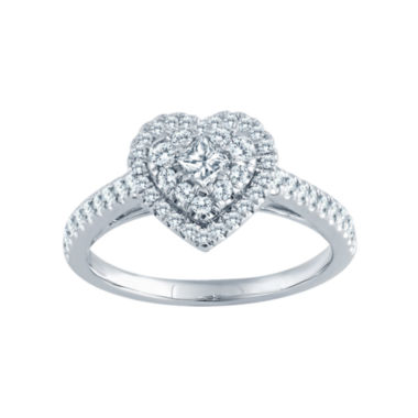 jcpenney.com | 5/8 CT. T.W. Diamond 14K White Gold Heart Engagement Ring