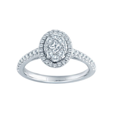 jcpenney.com | 5/8 CT. T.W. Diamond 14K White Gold Oval Bridal Ring