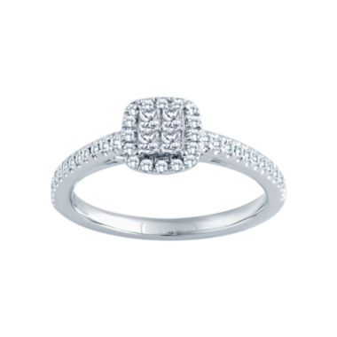 jcpenney.com | 3/8 CT. T.W. 14K White Gold Diamond Engagement Ring