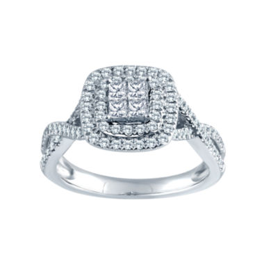 jcpenney.com | 5/8 CT. T.W. 14K White Gold Diamond Engagement Ring