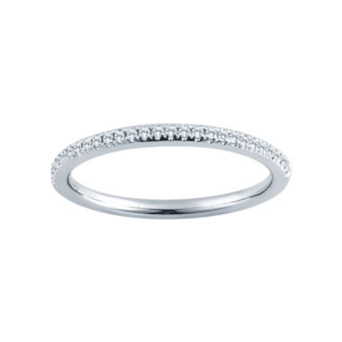 jcpenney.com | 1/10 CT. T.W. 14K White Gold Slim Diamond Band