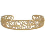 Diamond Accent Gold Over Sterling Silver Cuff Bracelet
