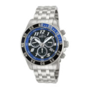 Invicta® Pro Diver Mens Silver-Tone & Blue 20ATM Chronograph Watch