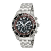 Invicta® Pro Diver Mens Silver-Tone & Brown 20ATM Chronograph Watch
