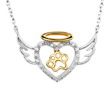 jcpenney.com | ASPCA® Tender Voices™ 1/10 CT. T.W.  Diamond Animal Angel Pendant Necklace