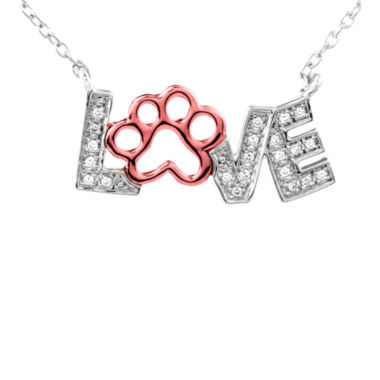 jcpenney.com | ASPCA® Tender Voices™ 1/10 CT. T.W. Diamond Animal Love Pendant Necklace