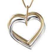 Two-Tone 14K Gold Interlocking Hearts Pendant Necklace