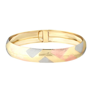 jcpenney.com | 14K Tri-Tone Gold Woven Design Bangle Bracelet