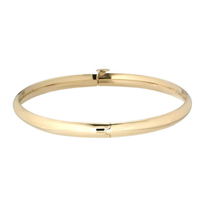 14 K Gold Hinged Bangle Bracelet by Fine Jewelry